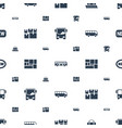 arrival icons pattern seamless white background vector image vector image