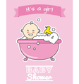 baby girl in bath vector image vector image