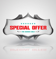 banner 3d style vector image vector image
