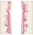 banner with pink flowers vector image vector image