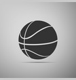 basketball ball icon isolated on grey background vector image vector image