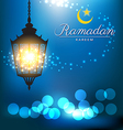 Beautiful bright lamp for ramadan festival vector image vector image