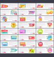 big sale at internet shop web page templates set vector image vector image