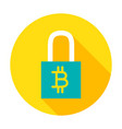 bitcoin security circle icon vector image