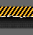 black and yellow stripes in paper cut style vector image vector image