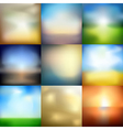 blur set vector image vector image