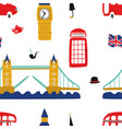 british london symbols seamless pattern vector image