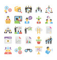 business flat colored icons 8 vector image vector image