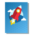 business poster rocket vector image vector image