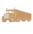 cargo truck isolated on white vector image vector image