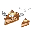Cartoon chocolate cheesecake with buttercream vector image vector image