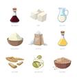 Cartoon soy food set vector image vector image