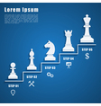 Chess infographic vector image vector image