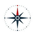 compass rose icon wind rose and navigation symbol vector image vector image