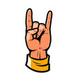 cool symbol hand in rock sign vector image