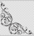 corner baroque ornament decoration element vector image vector image