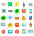 cybercrime icons set cartoon style vector image vector image
