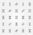 dna icons set - dna helix concept symbols vector image vector image