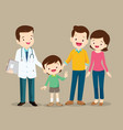 family visiting the doctor vector image vector image