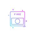 fire alarm icon design vector image