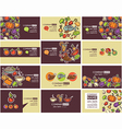 food cards vector image