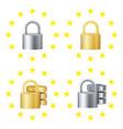 gdpr sign set padlock security technology vector image vector image