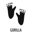 gorilla step icon simple style vector image