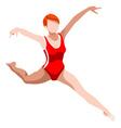 Gymnastics Balance Beam 2016 Sports 3D vector image