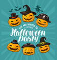 halloween party invitation holiday banner vector image vector image