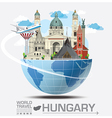 Hungary Landmark Global Travel And Journey vector image vector image