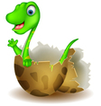 Little dinosaur birth vector image