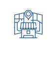 local online marketing line icon concept local vector image vector image