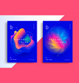 minimal poster layout with vibrant gradient blurs vector image vector image