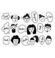multiethnic men and women saying hello vector image vector image