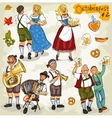 Oktoberfest - hand drawn collection - part 2 vector image vector image