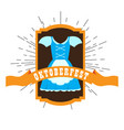 oktoberfest label with a traditional dress vector image vector image