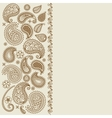 Paisley leaf henna elements greeting card vector image vector image