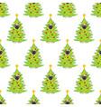 pug in christmas tree costume seamless pattern