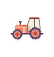 red agricultural tractor isolated on white vector image