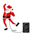 Santa Claus dancing vector image