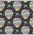 seamless pattern with flying balloon and vector image