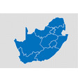 south africa map - high detailed blue map with vector image vector image