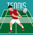 tennis player on field vector image