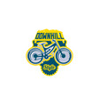 the emblem of the mountain bike sport bike logo vector image vector image