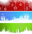 Three Christmas banners vector image
