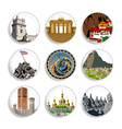 Travel destination badges - Set 4 vector image vector image