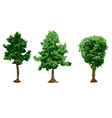 urban trees silhouettes vector image