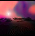 3d landscape vector image vector image