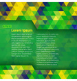 Abstract geometric background using Brazil flag co vector image vector image