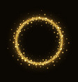abstract gold glittering circle frame vector image